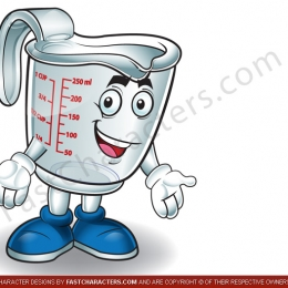 Measuring cup character mascot design