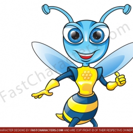 Bee insect mascot