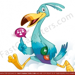 Tropical bird character