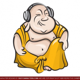 Cartoon Bhudda Character Design