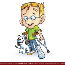 Cartoon Boy & Dog Character Design