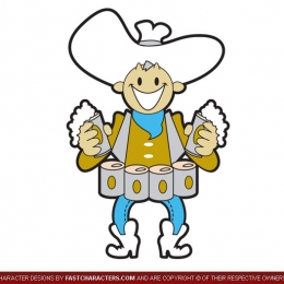 Cartoon Beer Cowboy Character Design