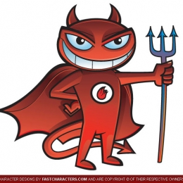 Cartoon Sports Devil Character Design