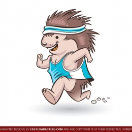 Cartoon Jogger Hamster Character Design