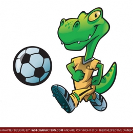 Cartoon Lizard Reptile Character Design