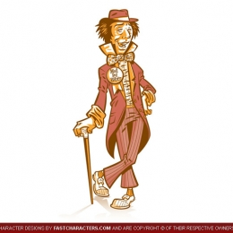 Cartoon Mad Hatter Character Design