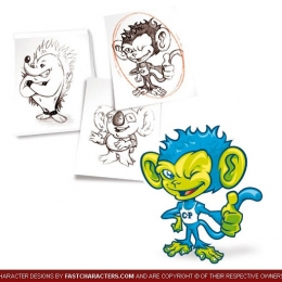 Cartoon Monkey Character Design