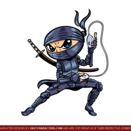 Cartoon Ninja Character Design