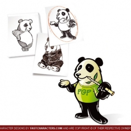 Cartoon Panda Character Design