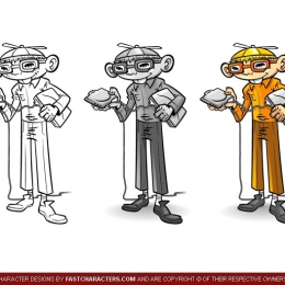 Cartoon PC Technician Character Design