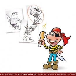 Cartoon Pirate Character Design