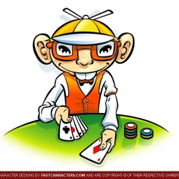 Cartoon Poker Player Character Design
