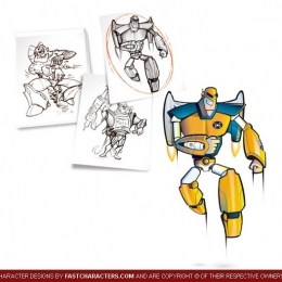 Cartoon Robot Character Design