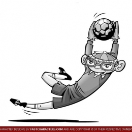Cartoon Soccer Player Character Design
