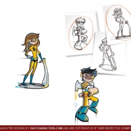 Cartoon Students Character Design