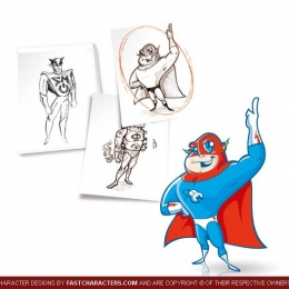 Cartoon Superhero Character Design