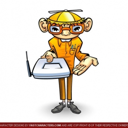 Cartoon Computer Technician Character Design
