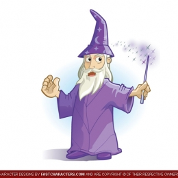 Cartoon Wizard Character Design