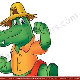 Crocodile mascot character