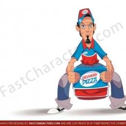 Pizza guy mascot