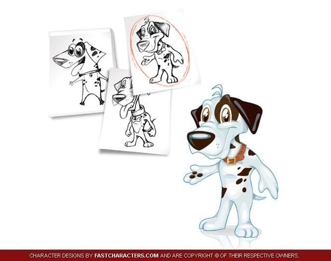 Cartoon Dog Character