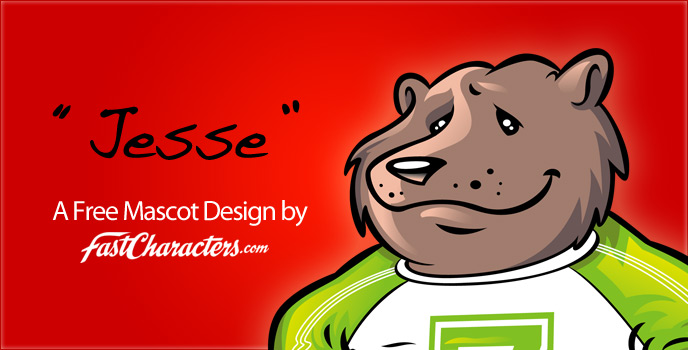 Mascot design: Jesse the bear